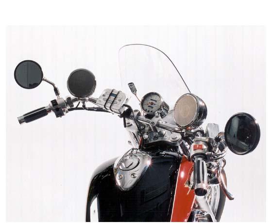 RUMBLE ROAD ウルトラ・ステレオスピーカー 70W+70Wアンプ内蔵 クローム 1インチクランプ