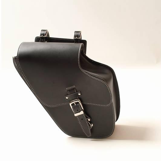 レザーサドルバッグ (ウインカー干渉なし) ブラック