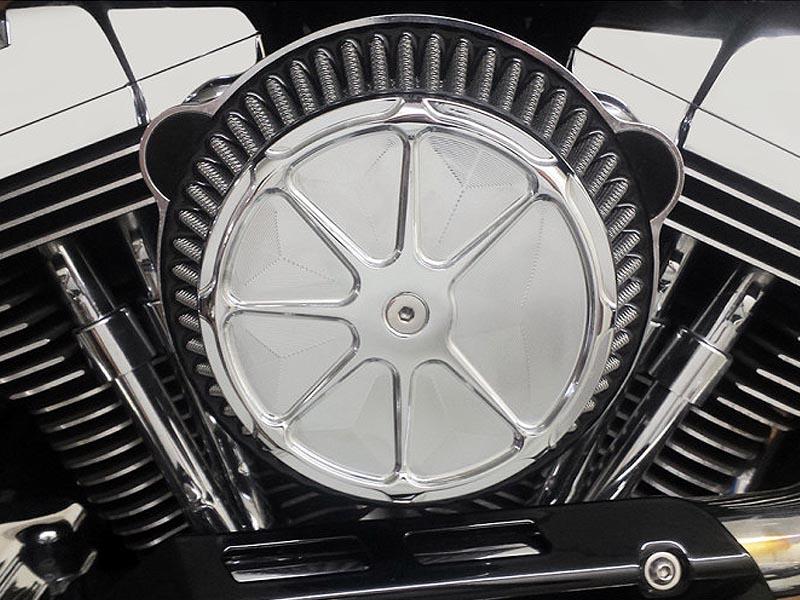【LA Choppers】フュージョン エアクリーナー クローム ツインカム用