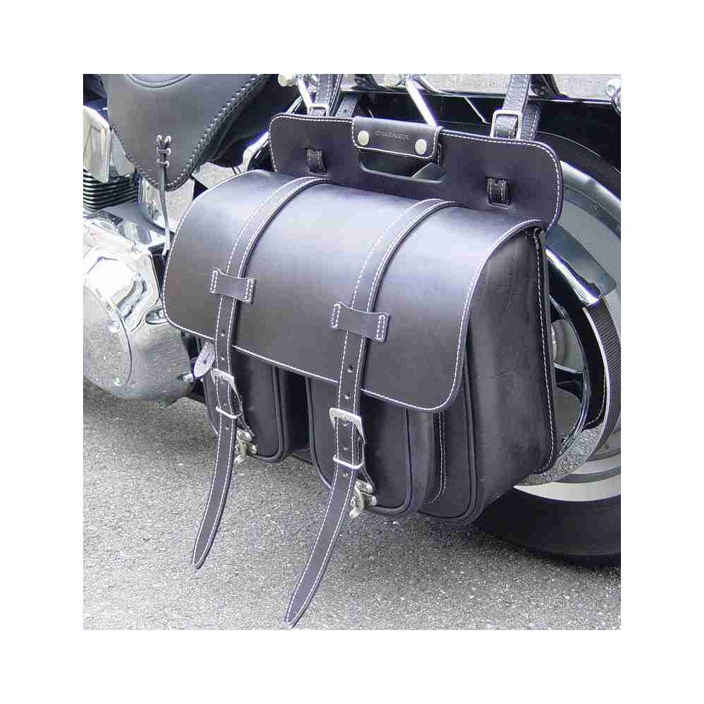 【デグナー】 レザーサドルバッグ ブラック SB-12-BK