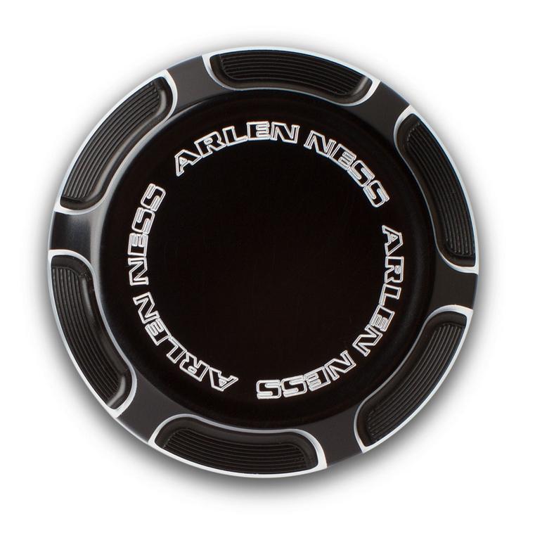 【アレンネス】 Beveled リア・マスターシリンダーカバー ブラック 2007~2013スポーツスター 03-476