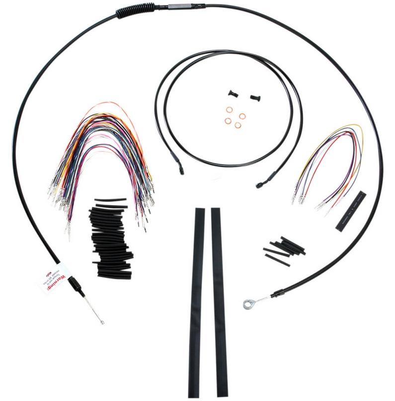 【バーリーブランド】 15インチ エイプハンドル用 ケーブルラインキット 2008~2013ツーリングモデル ABS付 B30-1100