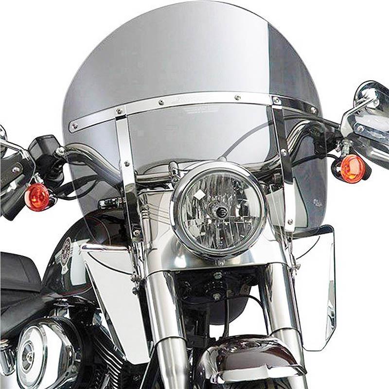 【ナショナル サイクル】 スイッチブレード Chopped ウインドシールド ライトグレー FLソフテイル N21428A