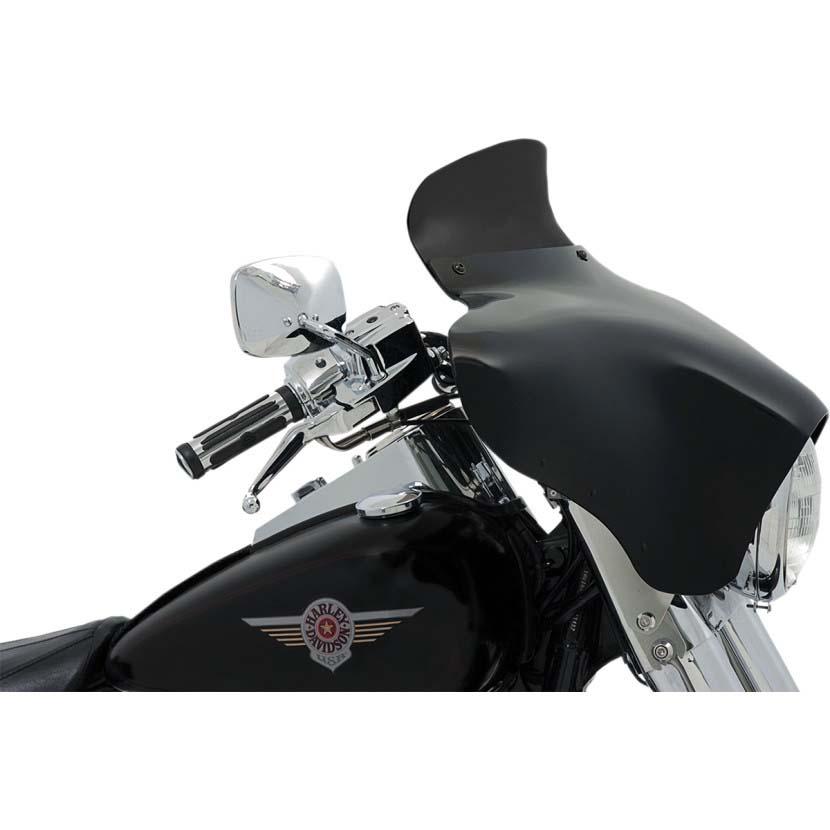 【メンフィスシェード】 バットウイング用 スポイラーウインドシールド ダークスモーク 5インチ MEP84010
