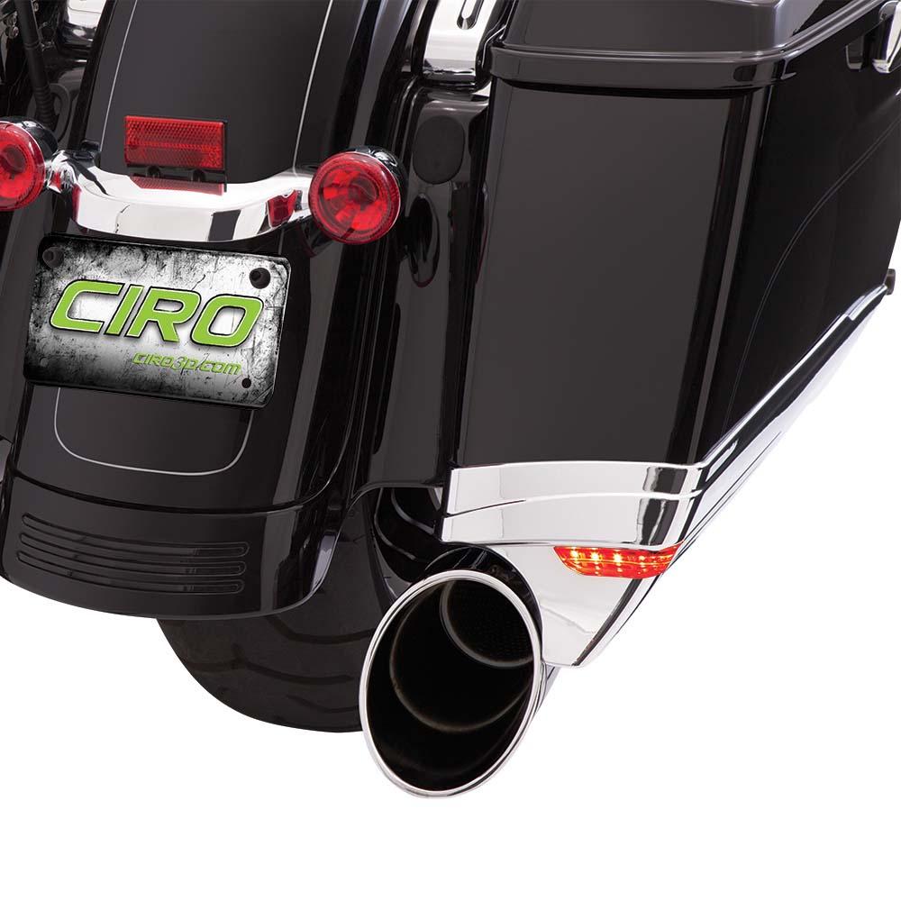 【CIRO】LEDライト サドルバッグエクステンション クローム