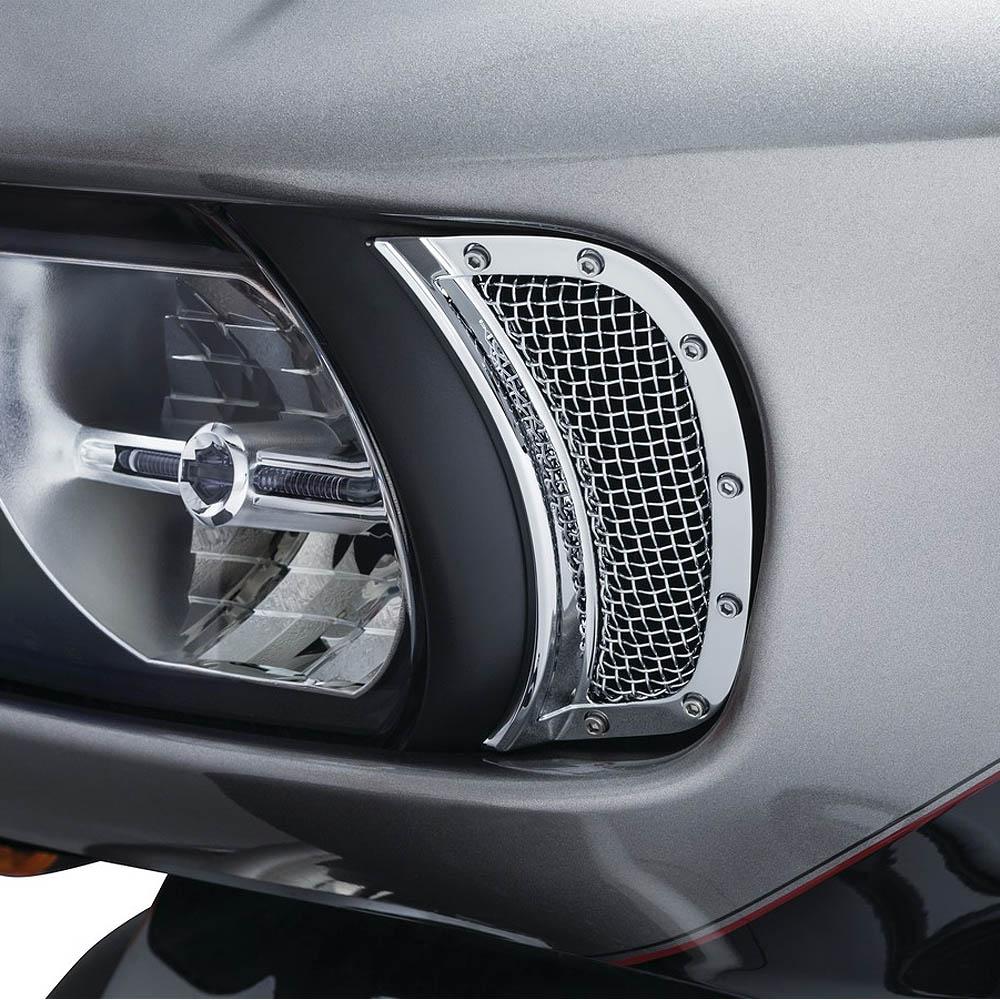 【クリアキン】 メッシュ ヘッドライトベント アクセント クローム 2015~2020 FLTRX/S、FLTRU/SE 6518