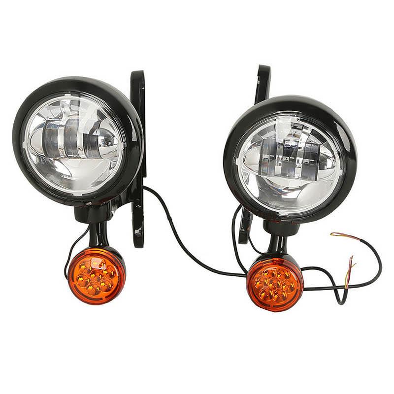 カスタム・LED補助ライト&ブラケットキット ブラック '94~'13ツアラー