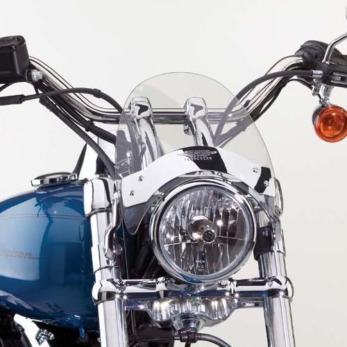 【ナショナル サイクル】N2554-001 フライスクリーンLS・ウインドシールド フォーク径:44mm~51mm スポーツスター、ダイナ、ソフテイル