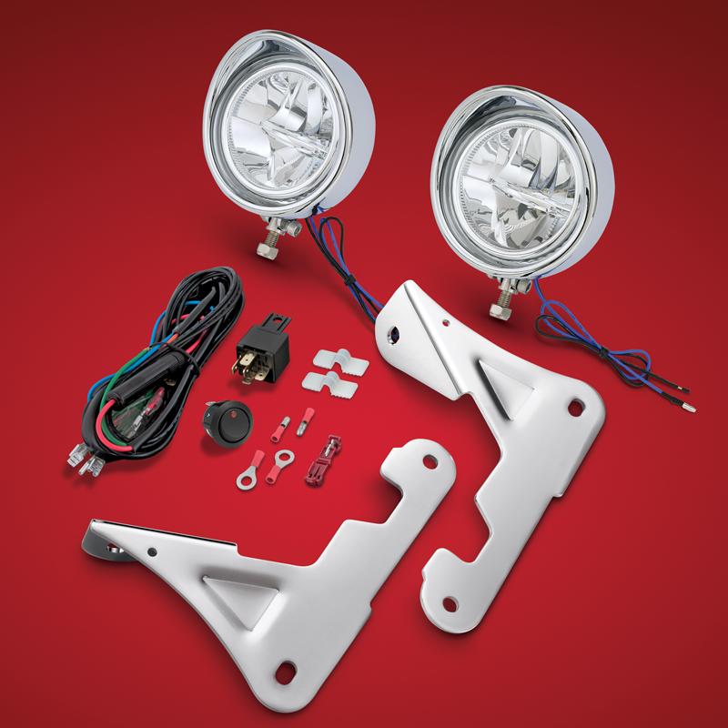【Big Bike Parts】 3.5インチ ドライビングライトキット クローム 91-315L