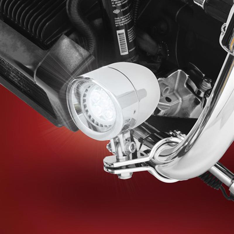 【SHOW CHROME】 ハイウェーバー用 2 3/8インチ LEDランプ クローム 55-365L
