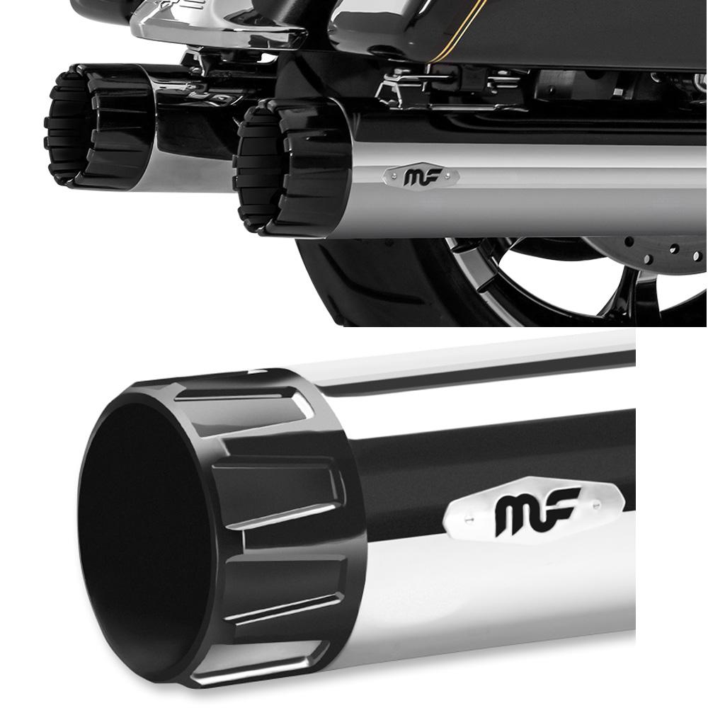 【限定セール!】 Magnaflow KNOCK-OUT 4インチ MUFFLERS クローム/ブラック, サトミムラ 36bd26c0