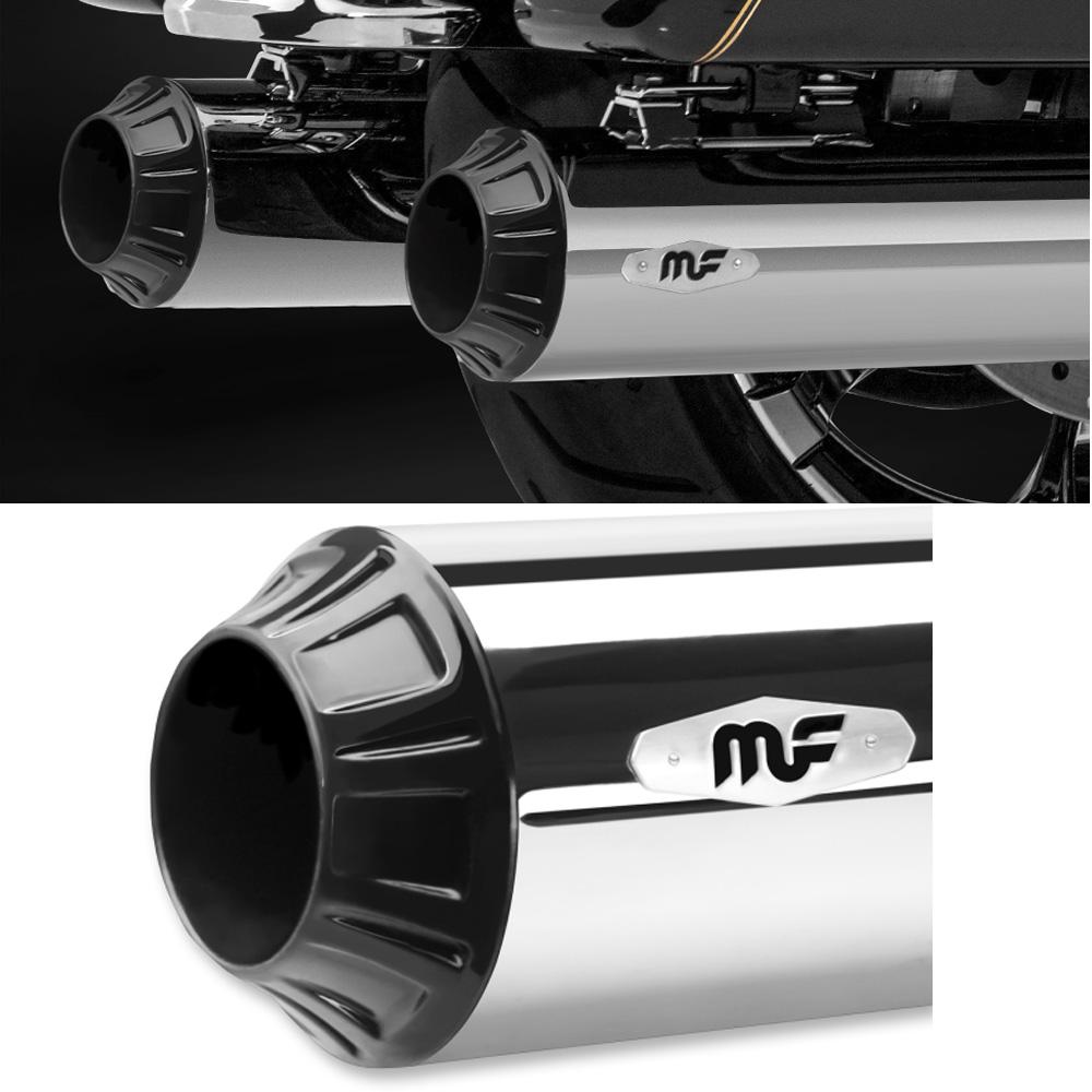 Magnaflow RIOT 4インチ MUFFLERS クローム/ブラック