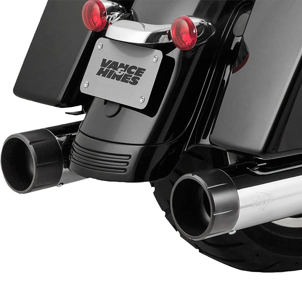 【バンス&ハインズ】 OverSized 450 RAIDER マフラー(クローム/ブラック) 16559