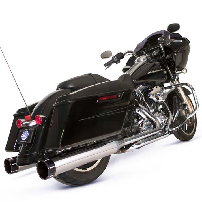 【S&S】 エルドラド Mark-45 マフラー&エキゾーストパイプ クローム トレーサーエンド 550-0678A