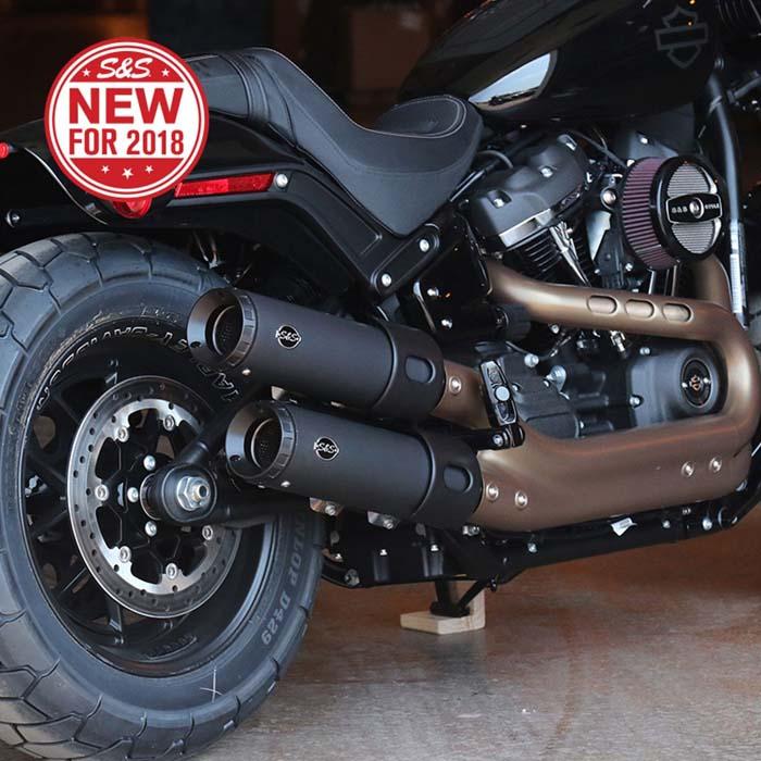 【S&S】 グランドナショナル スリップオンマフラー M8ソフテイル Fat Bob 550-0734