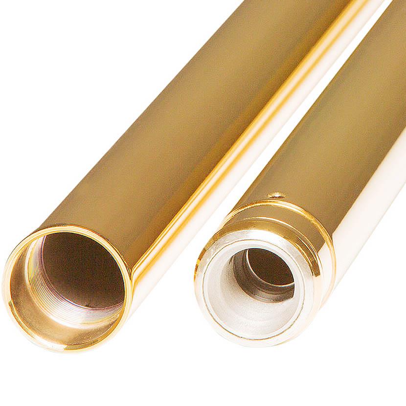 【カスタムサイクル】 インナーフォークチューブ ゴールド 39mm 24.25インチ 0404-0334