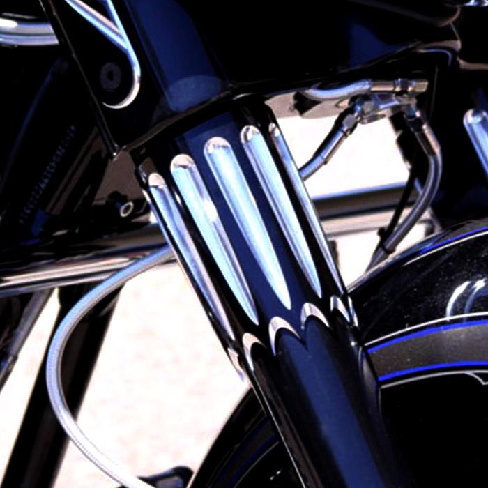 【ポールヤフィー】 Yafterburner フォークスライダー ブラックコントラスト 2014~2020ツーリング、トライク 0411-0157