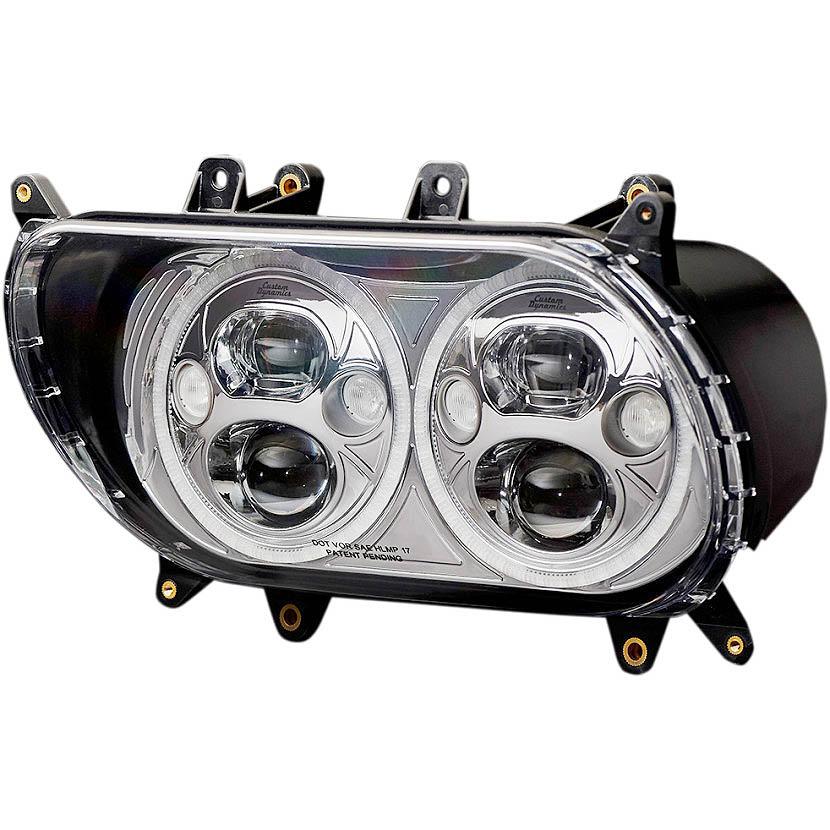 <title>Custom Dynamics カスタムダイナミクス LED 通常便なら送料無料 デュアルヘッドライト クローム 2015~2020 FLTRU FLTRX S 2001-1545</title>