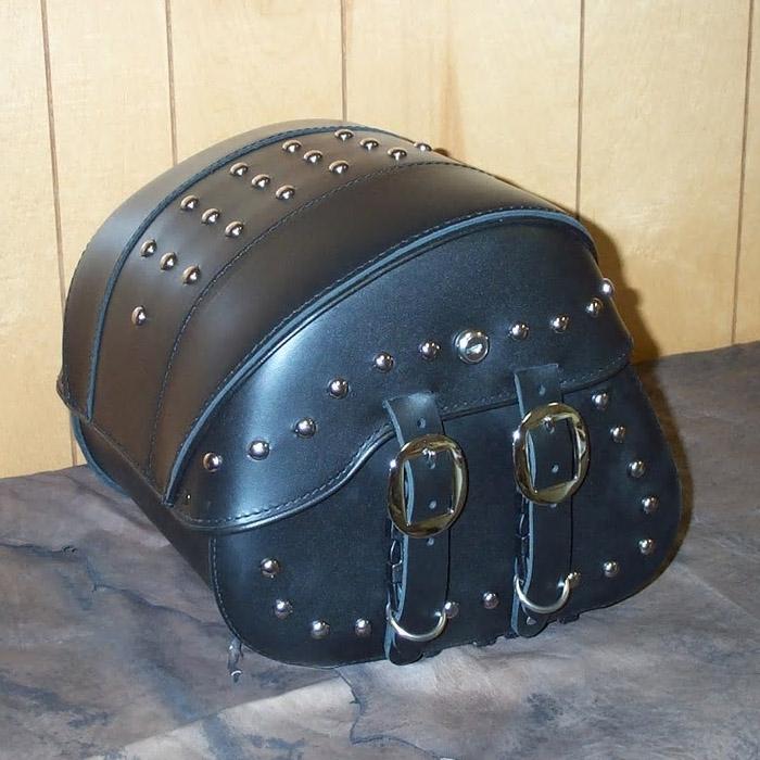 【Leather Pros】 トランク バッグ フルスタッズ付