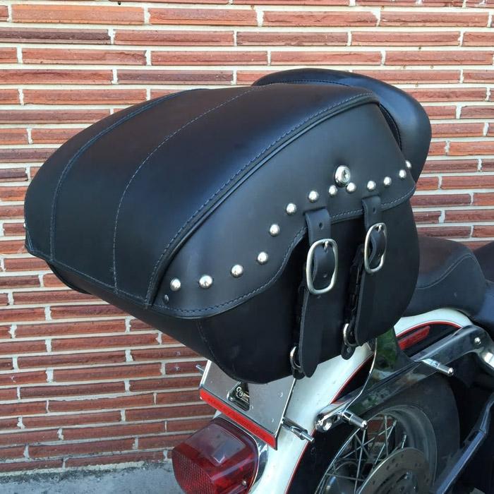 【Leather Pros】 トランク バッグ ラージ リッドスタッズ付