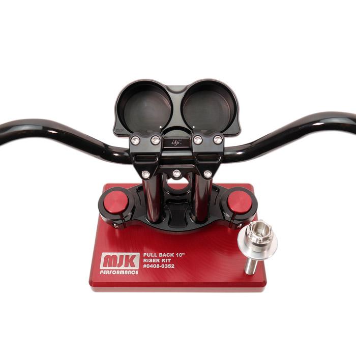【MJK】 Performance ハンドル・ライザー・ゲージポッドキット 10インチプルバック ブラック