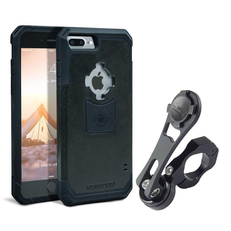 【ROKFORM】 ビレット スマートフォン ハンドルバーマウント iPhone 7/8Plus用