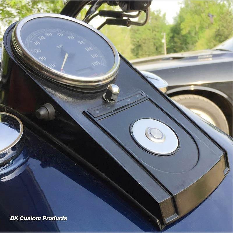 【DKカスタム】 ステルス プッシュボタンLEDイグニッションスイッチ ポリッシュ DK-POL-CON-IGN