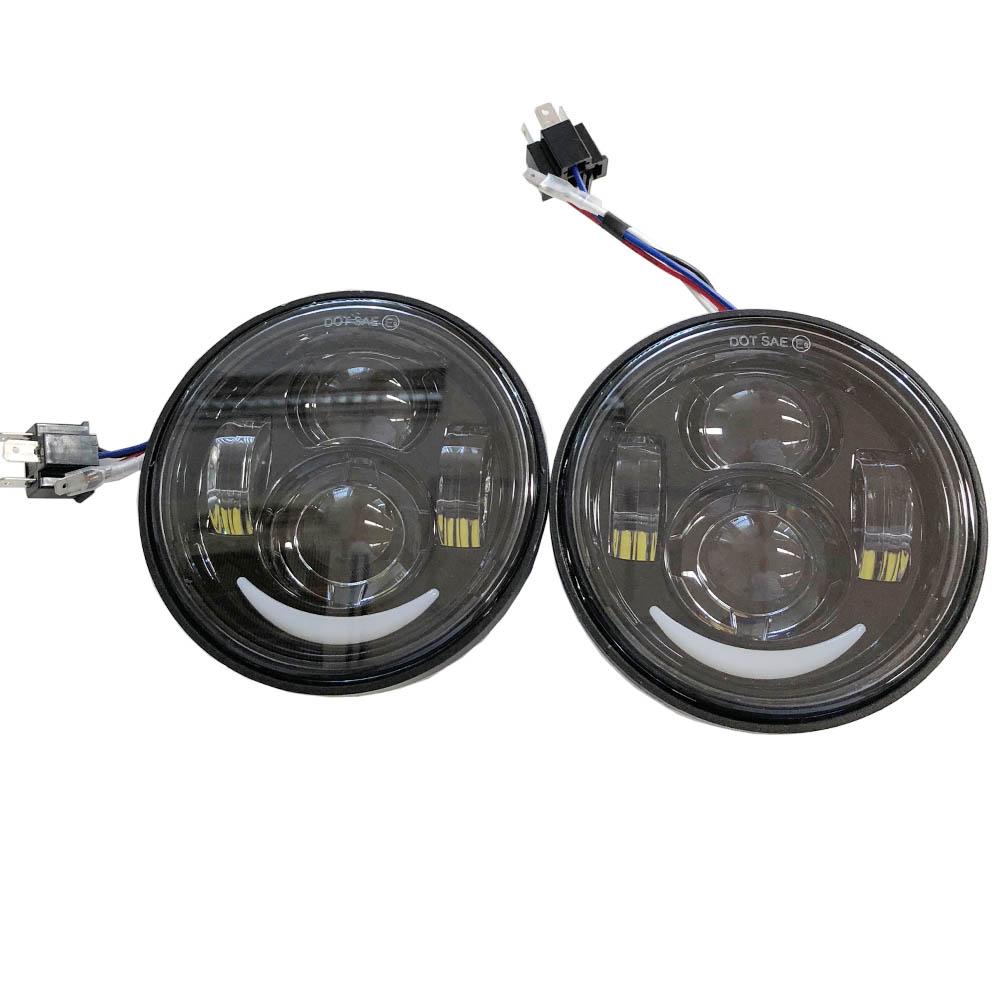 2灯LEDヘッドライト ブラック