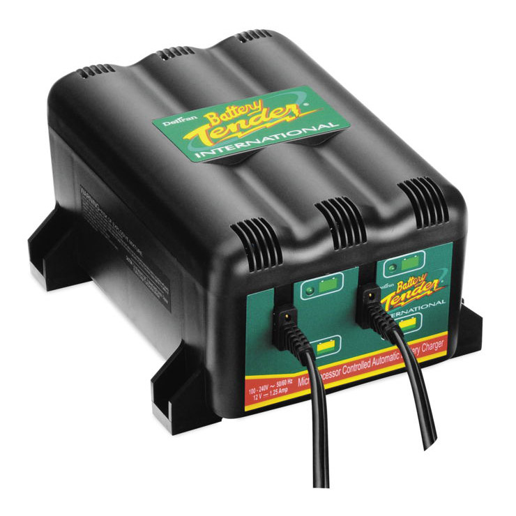 Battery Tender 022-0185G-DL-WH Plus High Efficiency 12V 1.25 Amp Battery Charger