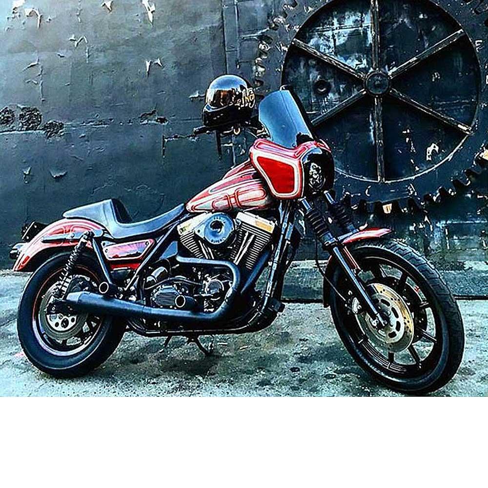 【スラッシン】ステンレス フルエキ・マフラー ブラック 1984~2000 FXR TSC-1010-1-T/TSC-1010-1-R