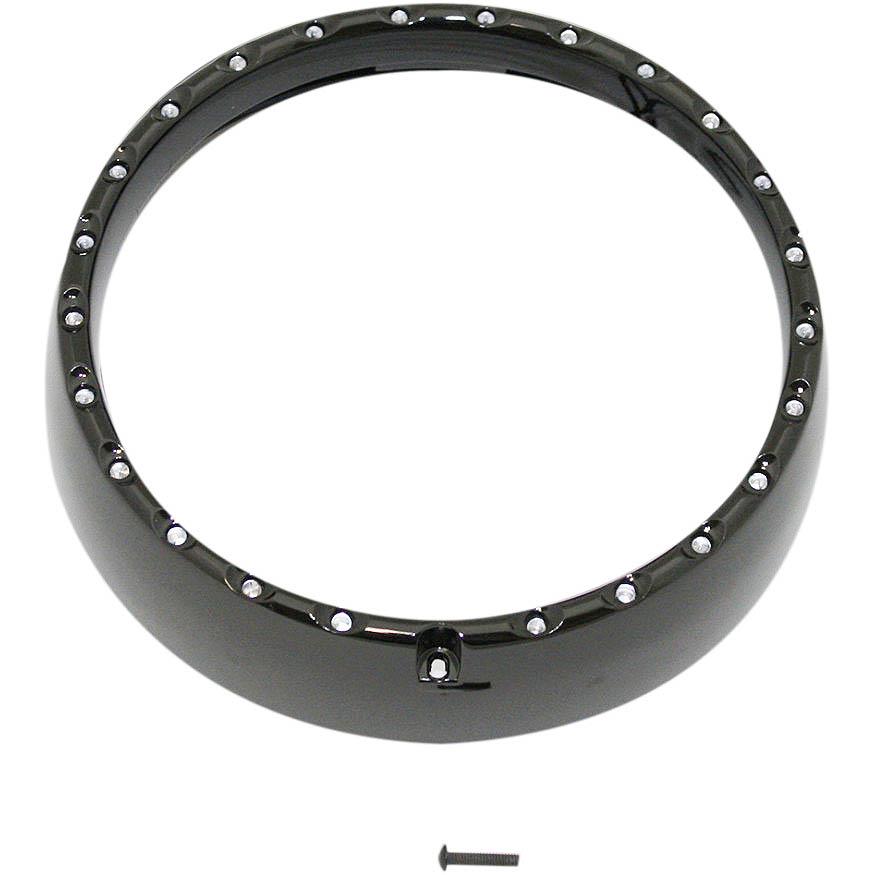 【カスタムダイナミクス】 HALO LED トリムリング ブラック 2014~2020 FLHT/X、FLHTCUTG 2001-1551