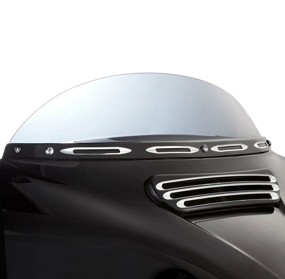 Arlen Ness 03-681 10-Gauge Billet Windshield Trim Black