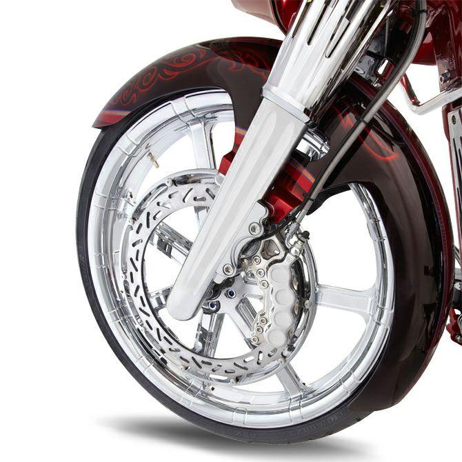 【アレンネス】06-512/06-510/40-502 Hot Legs ロワー・フロントフォーク Deep Cut クローム 2000~2020 ツーリング ダブルディスク用