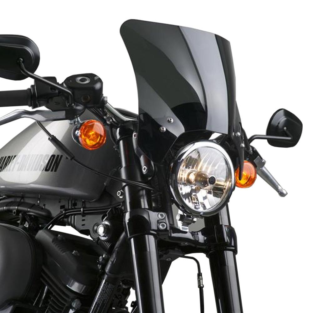 【ナショナル サイクル】 MOHAWK ウインドシールド ダークスモーク ストレートアーム ブラック 2016~2020 XL1200CX N2835-002
