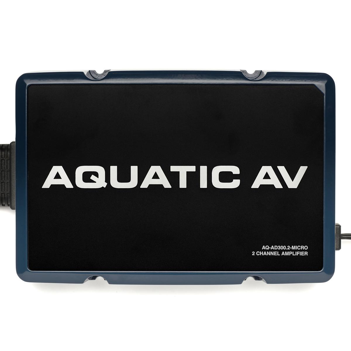 【アクアティック】94-1501 AQ-AD300.2-MICRO 2チャンネルアンプ 防水加工 ハーレー用