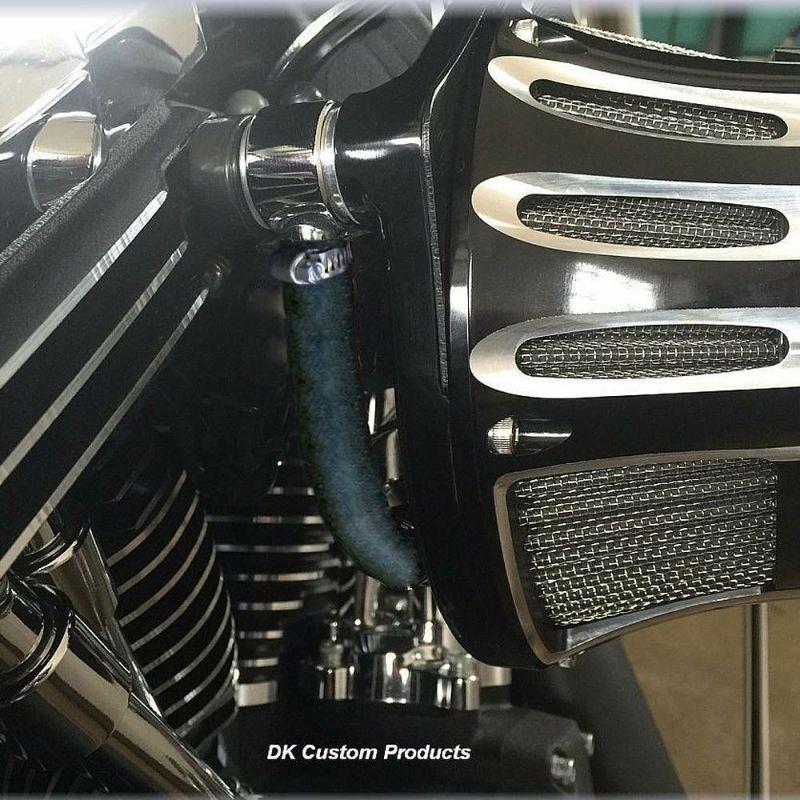 【DK カスタム】プレミアム ブリーザーオイルキャッチタンク ブラック アレンネス INVERTED(インバーテッド)エアクリーナー用 1999~2017 ダイナ等 DK-OPT-EBS-RB-CB