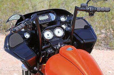 【ポール ヤフィー】OEM モンキー・バー ブラック 12インチ 1986~2013 FLTR、1995~2020 FLHR