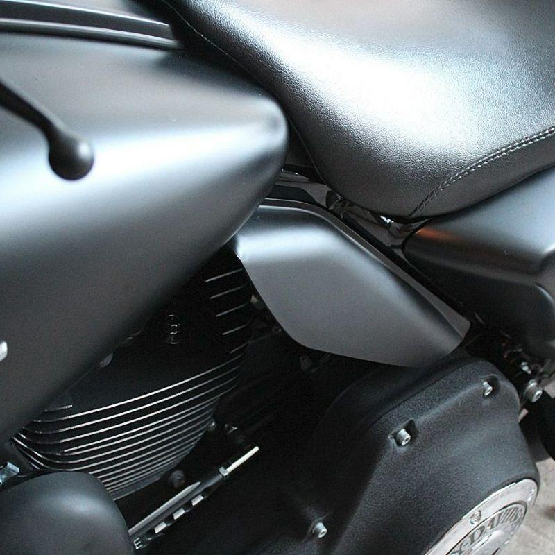 【HOGWORKZ】ミッドフレーム・エアデフレクター デニムブラック ツーリング 2009~2020 ツーリング、トライク HW159117