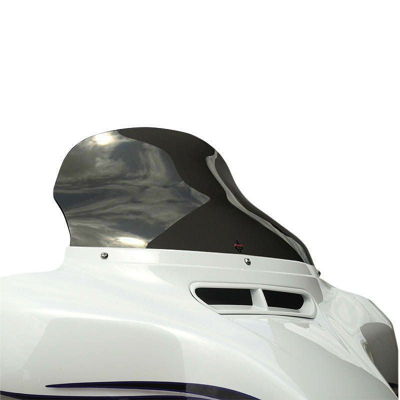 【クロック ワークス】フレアウインドシールド 10.5インチ ダークスモーク 2014~2020 FLHT、FLHX 2310-0684