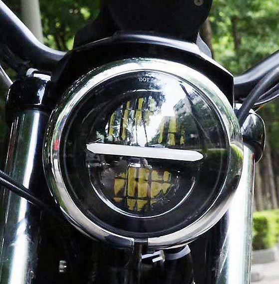 リフレクターLED 5-3/4インチ・ヘッドライト ブラック 2004~2020 スポーツスター等 MS-1057-B