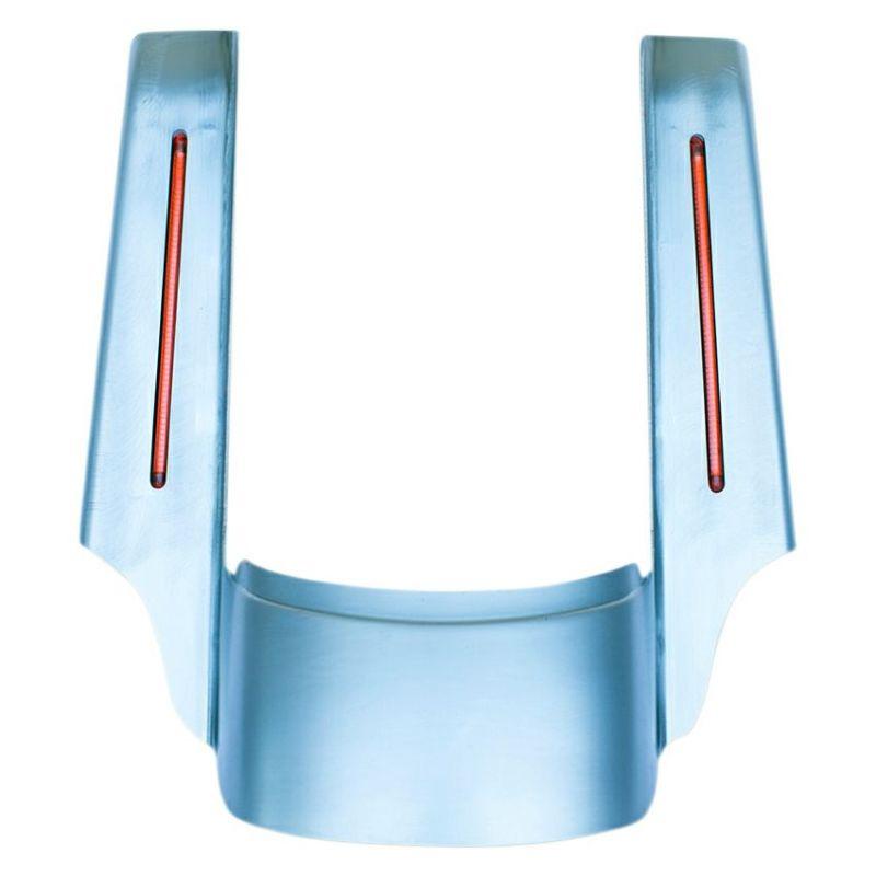 【RWD】1405-0215 4インチエクステンション・スチールリアフェンダー LEDライト付 未塗装 2009~2020 FLHT、FLTR、FLHR