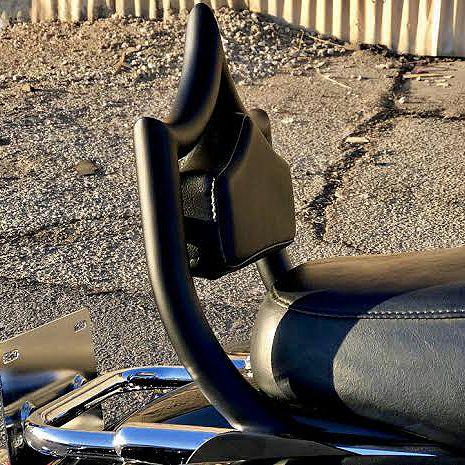 【カスタム モータースポーツ】エル・レイ デタッチャブル・バックレスト マットブラック 1997~2008 ツーリング CMC-ELREY-08-MB