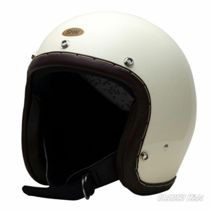 【SHM】SEL-HSHH101-IV HAND STITCH ジェットヘルメット アイボリー/ブラウン