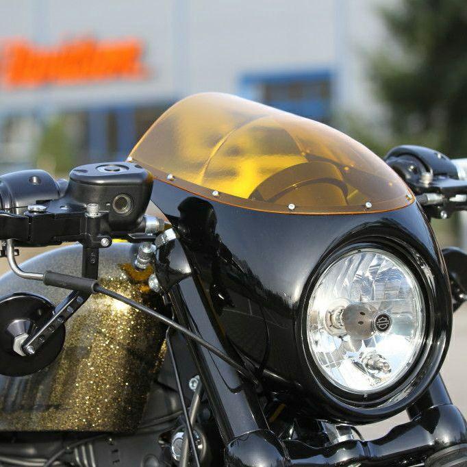 【Thunderbike】カフェレーサー・フェアリング イエローシールド 75-76-020