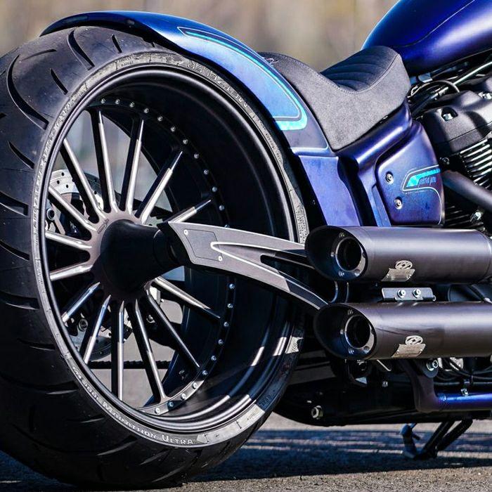 【サンダーバイク】クロスファイア・アルミスウィングアームキット 18インチホイール用 2018~2020 FXBR/S、FLFB/S等 66-74-040