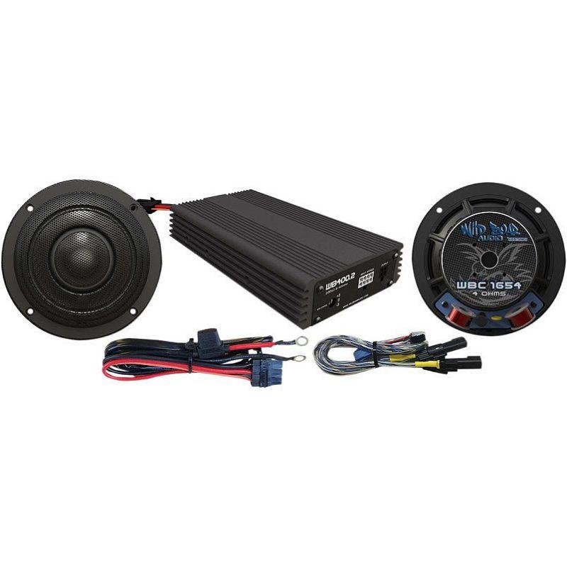 【ワイルドボア】400W 2chアンプ スピーカーキット 2014~2020 FLHTCU等 4405-0459