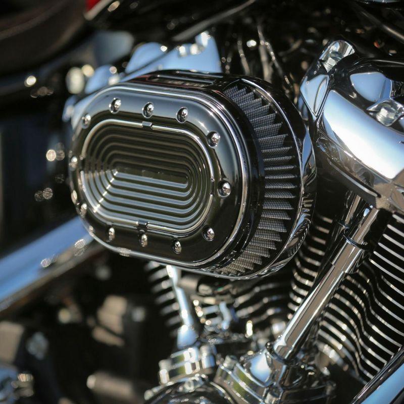 【サンダーバイク】オーバル・エアクリーナーキット クローム 2018~2020 ソフテイル等 96-74-030