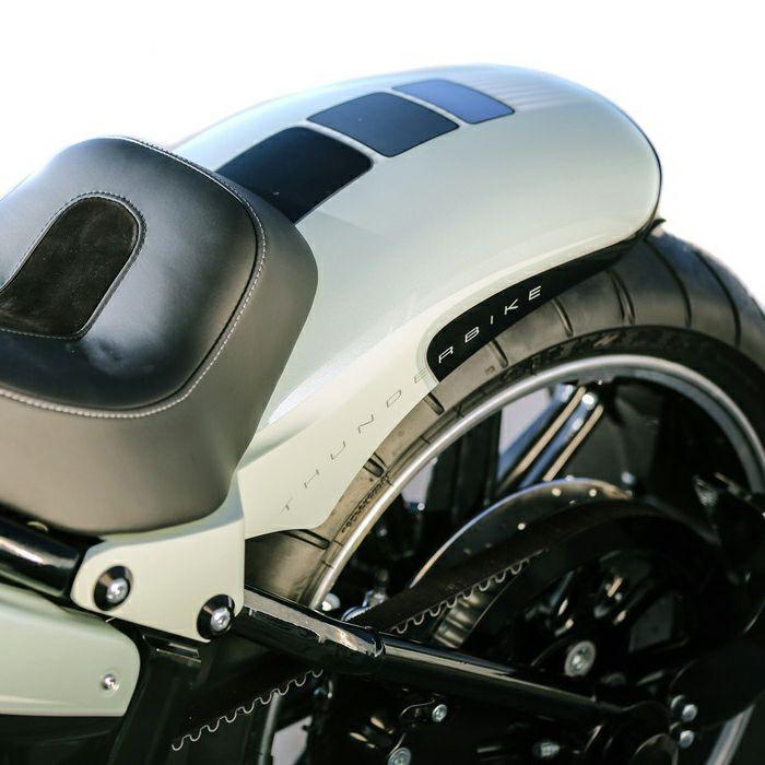 【サンダーバイク】18インチ x 260mmタイヤ用 リアフェンダー ウィンカー/テールライト付き 2018~2020 FXBR/S、FLFB/S等 72-74-050
