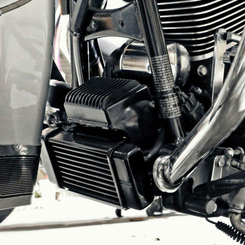 【ジャグ】電動ファン付 ローマウント 10列 オイルクーラー ブラック 1984~2008 ツーリング 751-FP2300