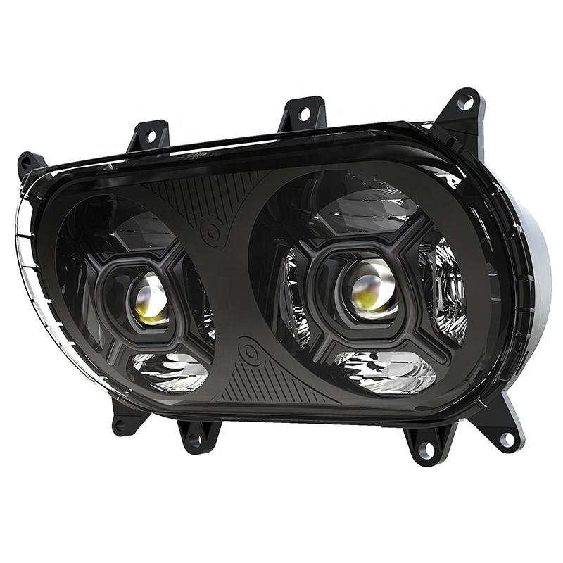 社外 LEDデュアルプロジェクターヘッドライト ブラック 2015~2020 往復送料無料 FLTR 祝日